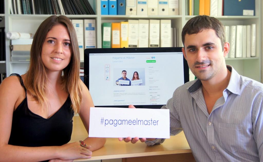 Págame el Máster, iniciativa de Natalia y Manuel